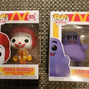 Funko Pop Ronald McDonald and Grimace